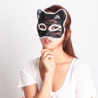고양이 망사가면(블랙)