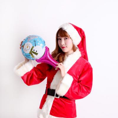 크리스마스 손잡이 은박풍선 (눈사람)