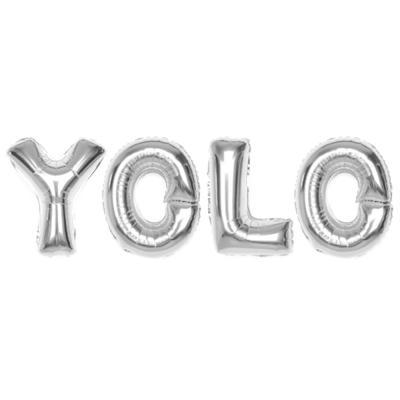 알파벳은박풍선세트 (YOLO) 골드