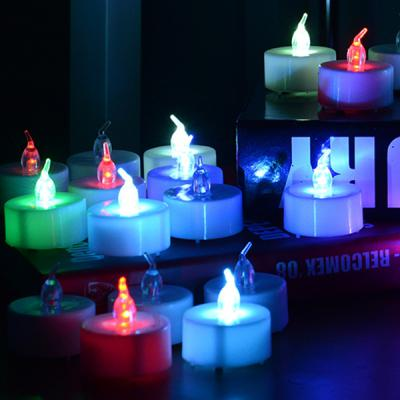 LED 건전지티라이트24개입 (칼라)