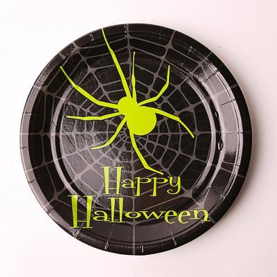할로윈 파티접시 18cm - 거미블랙(10개입)