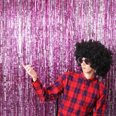 파티 수술 은박커튼 핑크 (폭 1m / 높이 2m)