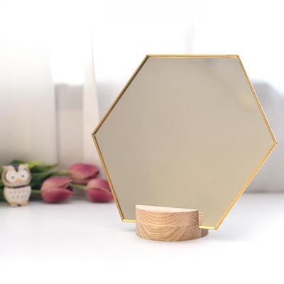 골드라인 육각 탁상 거울