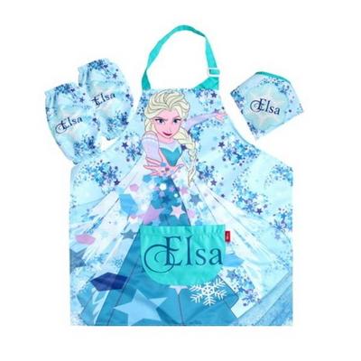 디즈니 어린이 겨울왕국 엘사 앞치마세트