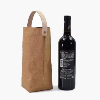 가죽 손잡이 와인 크래프트 가방
