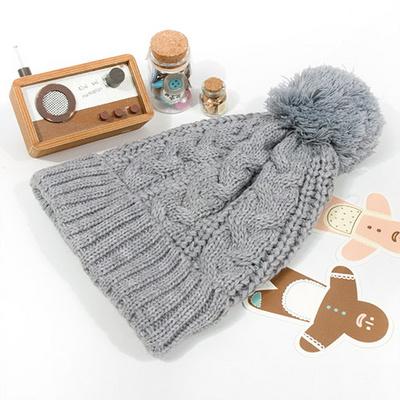 유니크 꽈배기 방울 니트모자 꽈베기 겨울 니트 모자