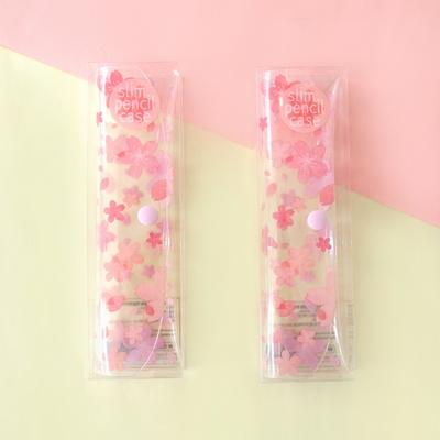 문쓰프렌즈 벚꽃 슬림 펜슬케이스