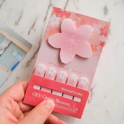 오동에발레리 벚꽃 점착 메모잇 (꽃잎. 인덱스)