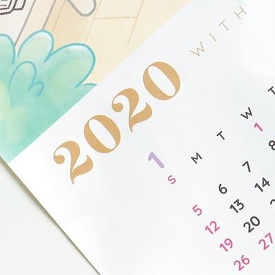 2020 포챠펭 포스터 달력