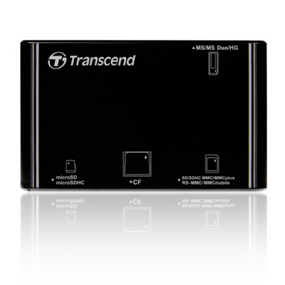 트랜센드 카드리더기 USB2.0 올인원멀티리더기 RDP8 블랙 TS-RDP8K