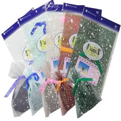 흰색 점박이 칼라 포장 봉투