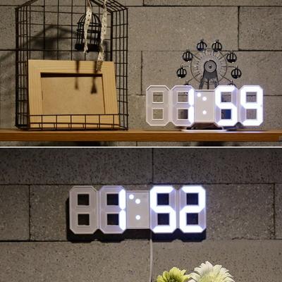 미니 3D LED 탁상겸벽시계