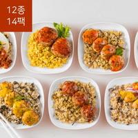 쓰리케어 포켓도시락 1일 2식(일주일식단)(12종 14팩)