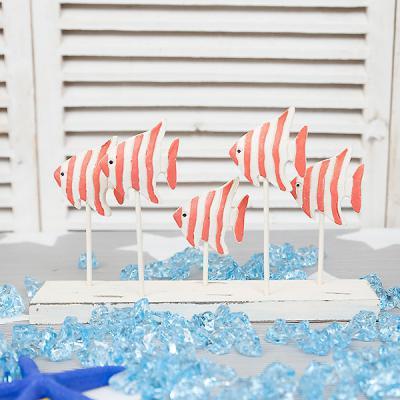 엔젤 피쉬 물고기 우드장식 여름 소품 해변 장식 인형
