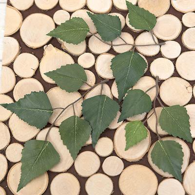 나뭇잎-자작나무잎(1봉=28개) 조화