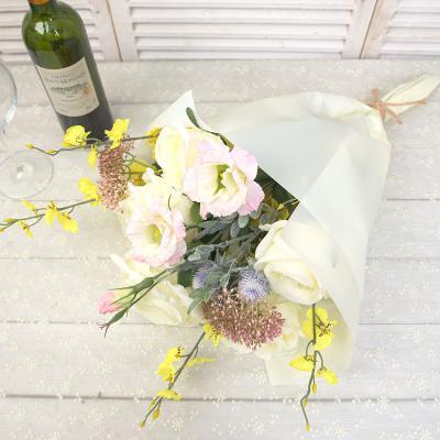 영국장미 믹스 성묘 조화 꽃다발