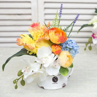 계절 담은 꽃 저그 화분 - 조화 인테리어