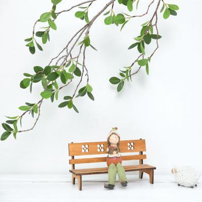 모과 나무 새순 잎 가지 110cm 조화