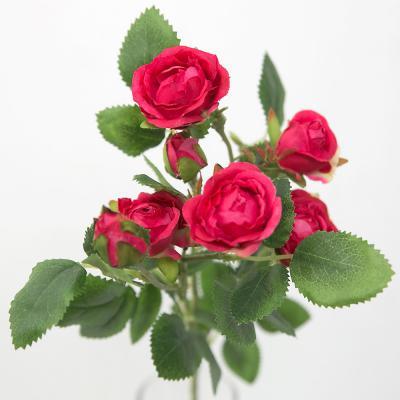 일곱송이 찔레 장미 꽃 가지 조화
