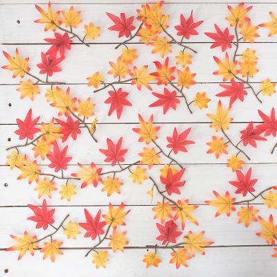 가을 단풍잎 1봉-28개 조화 단풍 나무 잎사귀 장식