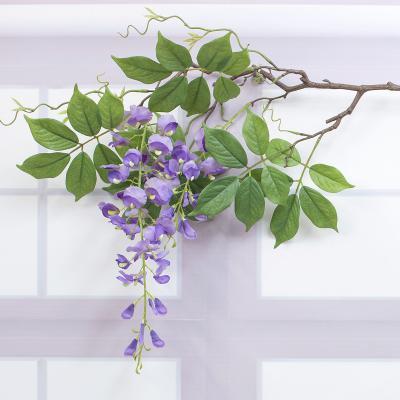 네추럴 등나무 꽃 가지 130cm 조화꽃 인조나무가지