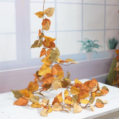 가을 아스펜 포플러 잎 넝쿨 200cm, 실크플라워 조화 가랜드