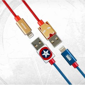 마블정품 캡틴아메리카 시빌워 라이트닝 8핀 고속충전 케이블