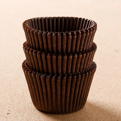 90p 홈베이킹카페테리아머핀컵(초코) (7.5cm×4.5cm)