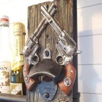 빈티지 클래식 권총 오프너 1개