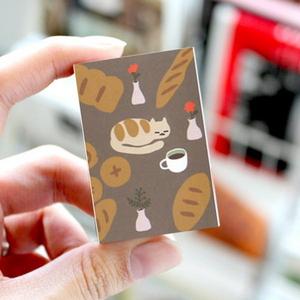 브리스크스타일 성냥(빵과 커피 그리고 고양이)_40EA