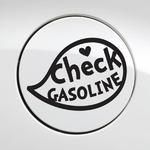 주유구 체크 가솔린 말풍선 / 주유구스티커 자동차스티커