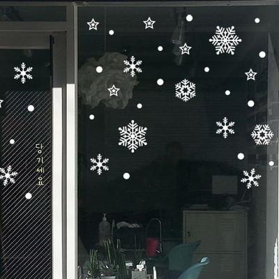 크리스마스 눈꽃 스티커 장식 CMS4J217 흩날리는 눈꽃송이 소형ver2