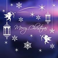 크리스마스 눈꽃 스티커 장식 CMS4J233 천사의 거룩한 크리스마스 원톤