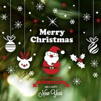 크리스마스 눈꽃 스티커 장식 CMS4J234 산타의 크리스마스 장식