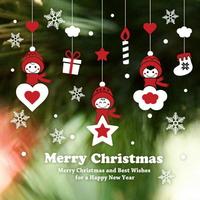 크리스마스 눈꽃 스티커 장식 CMS4J235 꼬마요정의 행복한 크리스마스