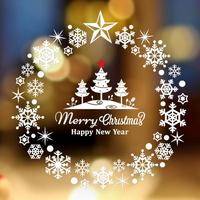 크리스마스 눈꽃 스티커 장식 CMS4J236 눈꽃송이마을