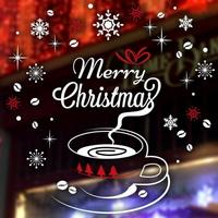 크리스마스 눈꽃 스티커 장식 CMS4J241 크리스마스의 커피한잔