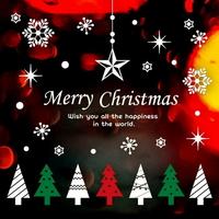 크리스마스 눈꽃 스티커 장식 CMS4J242 리틀 크리스마스 트리(3색)