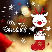 크리스마스 눈꽃 스티커 장식 CMS4J243 산타의 크리스마스 여행