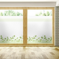 창문 시트지 칼라 안개시트지 로이그린라인01 L-A