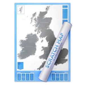 럭키스 스크래치 맵 영국 Scratch Map UK
