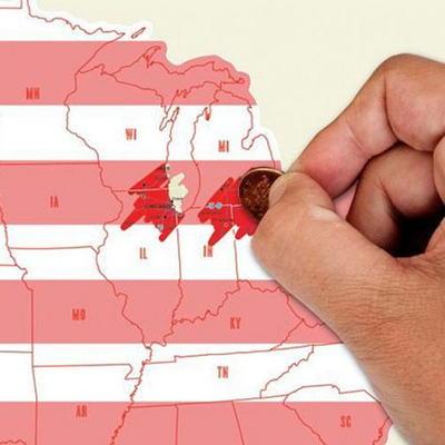 럭키스 스크래치 맵 미국 Scratch Map USA