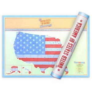 럭키스 스크래치 맵 미국 (소형사이즈) Scratch Map USA Travel Edition