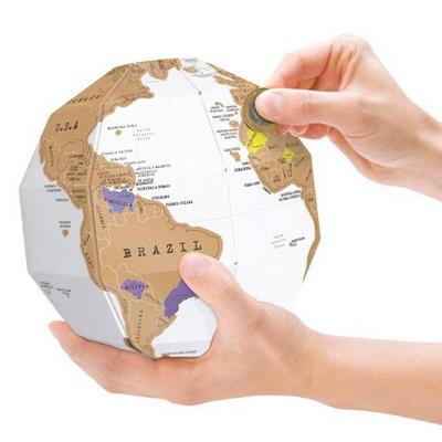 럭키스 스크래치 지구본 Scratch Globe