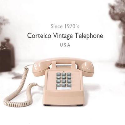 코텔코 Made in USA 빈티지 데스크 유선전화기 연핑크