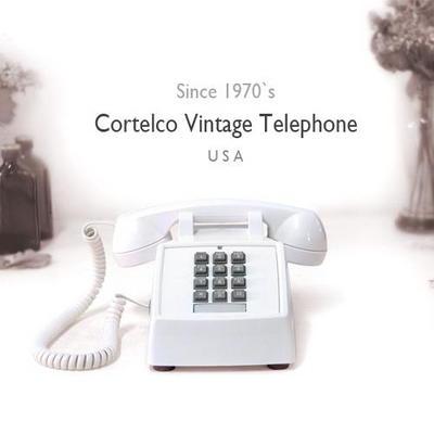 코텔코 Made in USA 빈티지 데스크 유선전화기 화이트