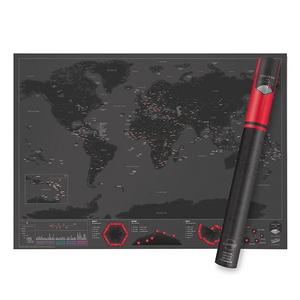 럭키스 스크래치 맵 세계지도 캐피탈