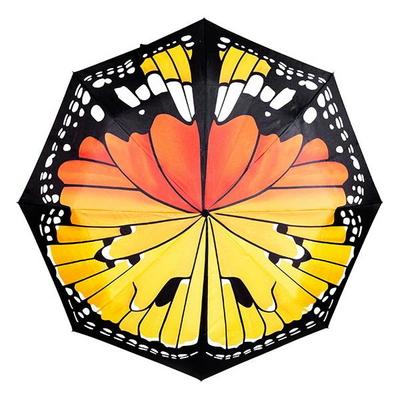 썩유케이 나비 무늬 3단 단우산
