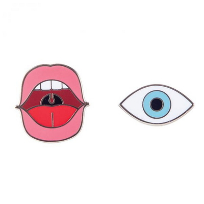 [도이] 캐릭터 패션 브로치 눈 입