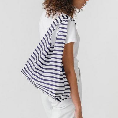 [바쿠백] 스탠다드 에코백 장바구니 Sailor Stripe
